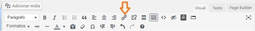 inserir link em wordpress