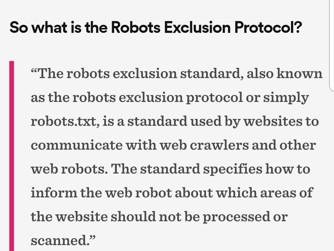 Protocolo de exclusão de robôs